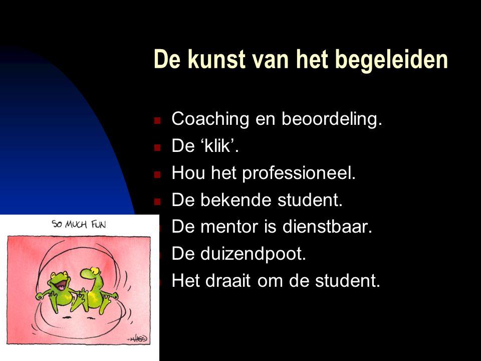De kunst van het begeleiden Coaching en beoordeling.