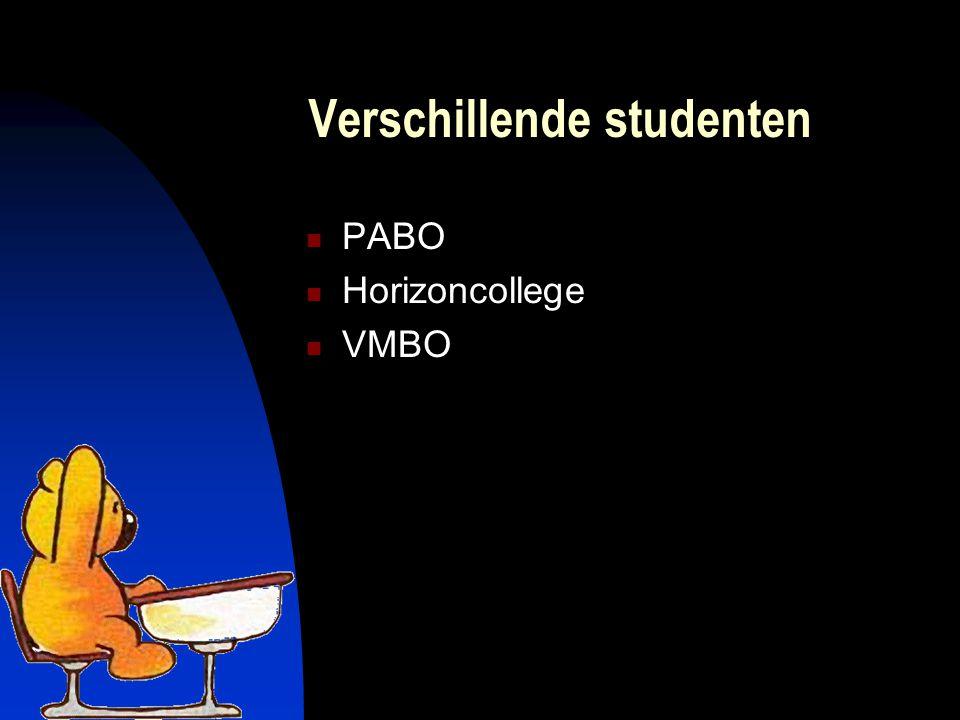 Verschillende studenten PABO Horizoncollege VMBO