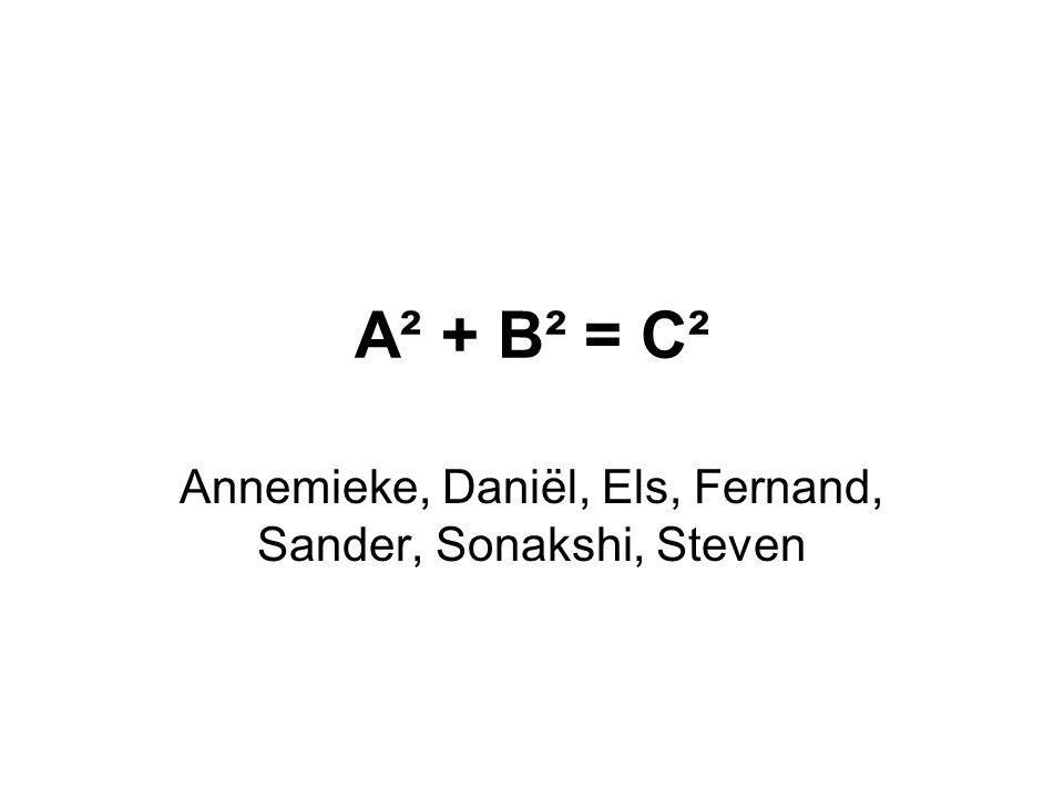 A² + B² = C² Annemieke, Daniël, Els, Fernand, Sander, Sonakshi, Steven