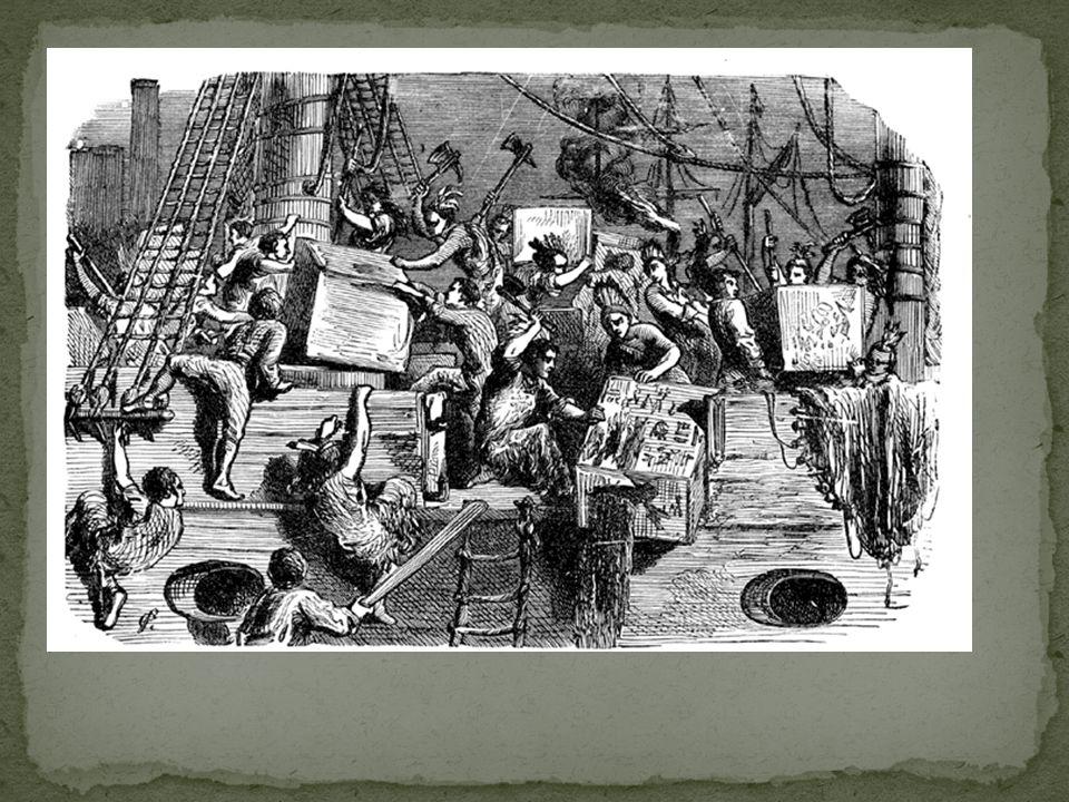 Engeland was woedend.De kolonies mochten vanaf dat moment niet meer zichzelf besturen.