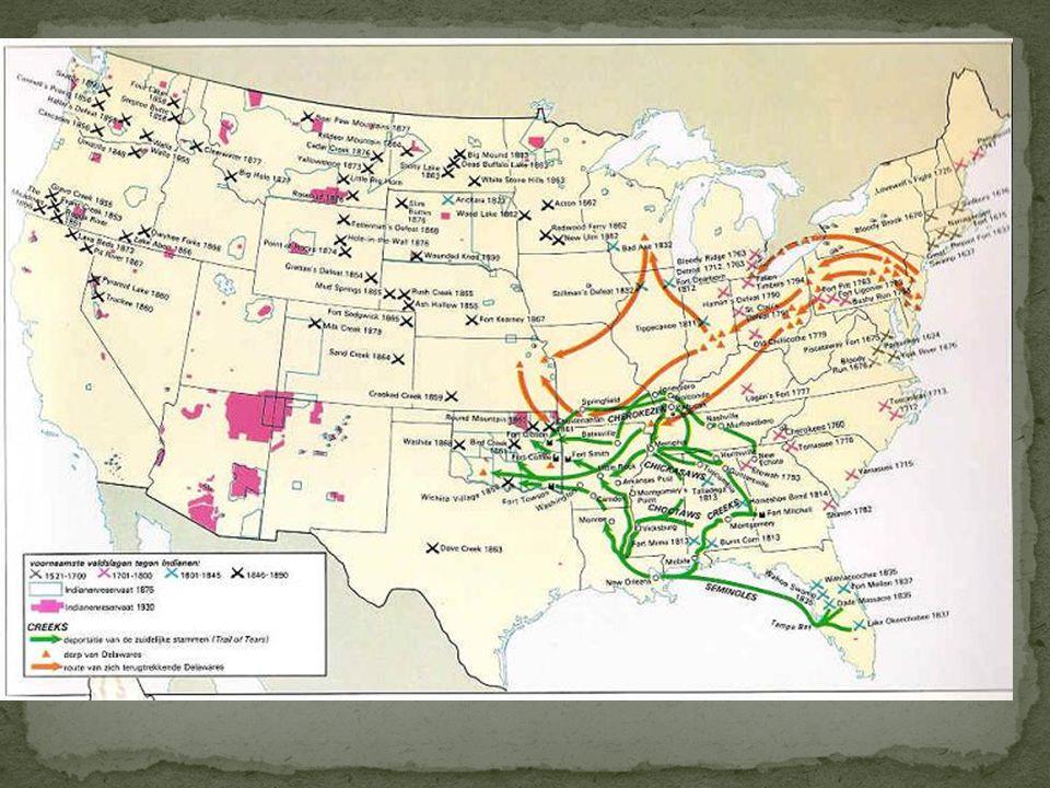 Indianen: eerste bewoners van Amerika Stammen: groepen mensen die bij elkaar horen.