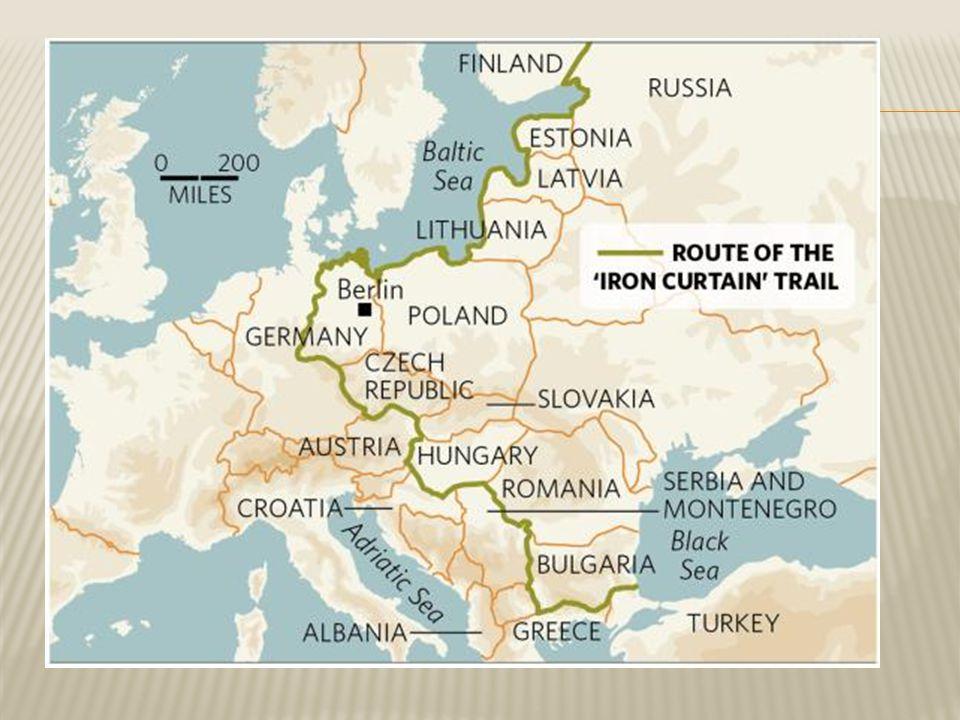  Amerika ging Europa geld aanbieden om hun land op te bouwen  Oostbloklanden mochten er (van de SU!) geen gebruik van maken.