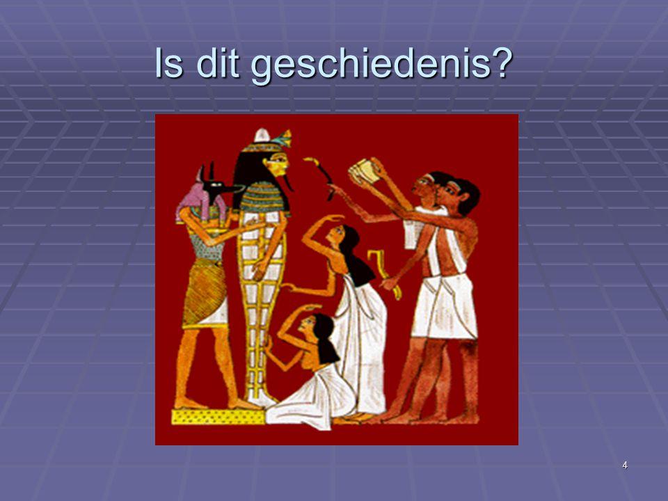 15 Voorbeelden :  Einde prehistorie Egypte : 3000 v.