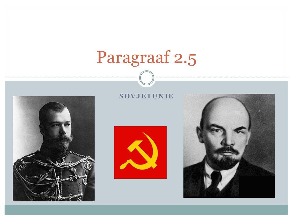 SOVJETUNIE Paragraaf 2.5