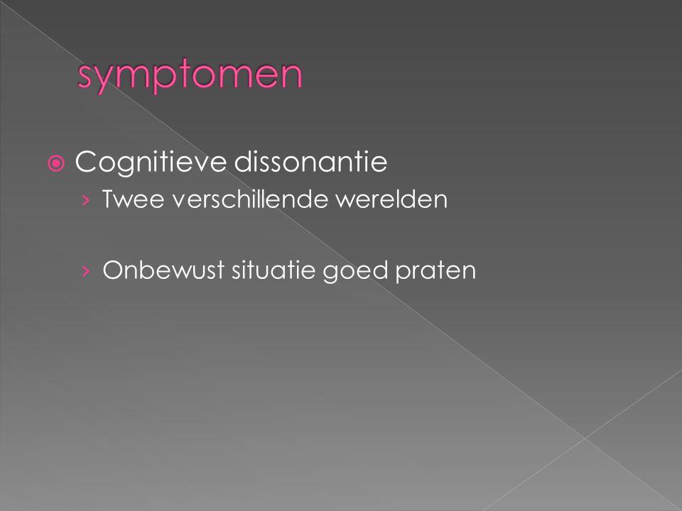  Cognitieve dissonantie › Twee verschillende werelden › Onbewust situatie goed praten