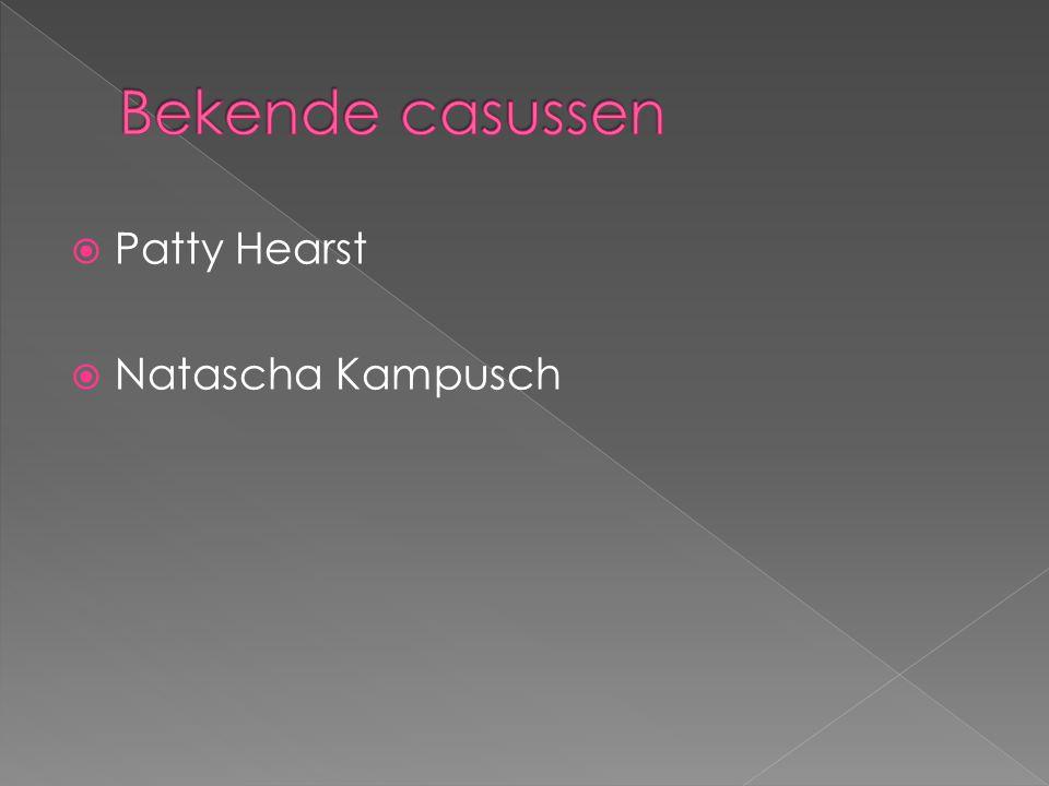  Patty Hearst  Natascha Kampusch