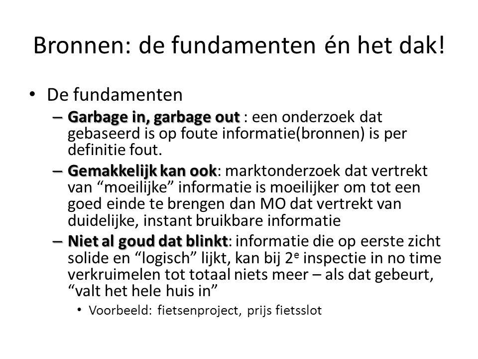 Bronnen: de fundamenten én het dak! De fundamenten – Garbage in, garbage out – Garbage in, garbage out : een onderzoek dat gebaseerd is op foute infor