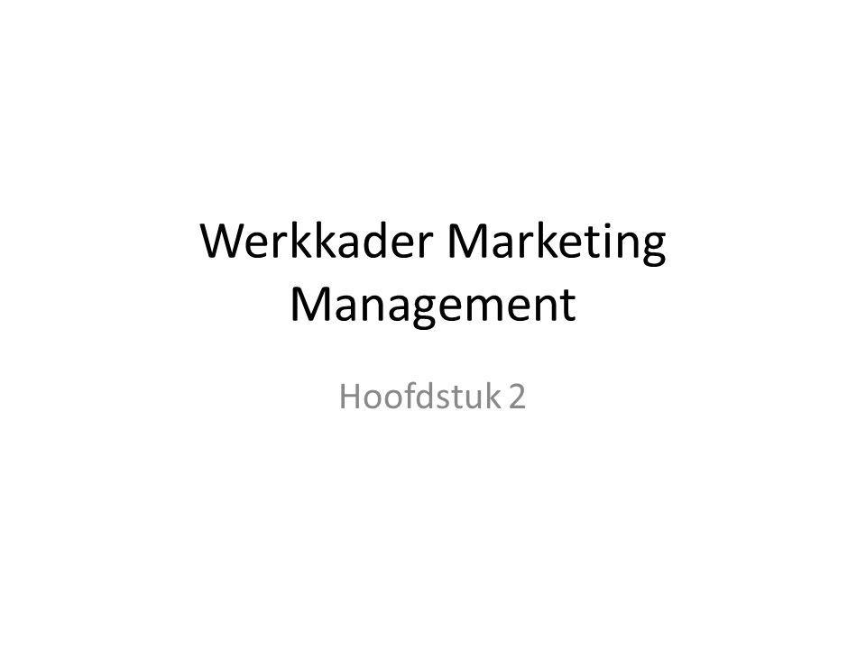 Werkkader Marketing Management Hoofdstuk 2