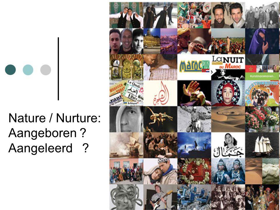 Nature / Nurture: Aangeboren ? Aangeleerd ?