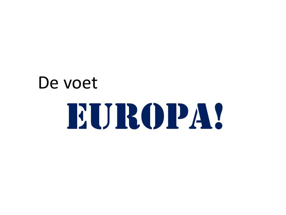 De voet Europa!