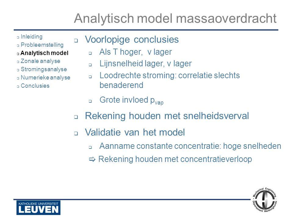 Analyse - luchtstroming - droogoven – lijmstraat - Polyvision Analytisch model massaoverdracht  Voorlopige conclusies  Als T hoger, v lager  Lijnsn
