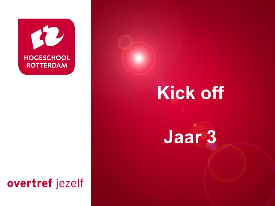 Presentatie titel Rotterdam, 00 januari 2007 Kick off Jaar 3