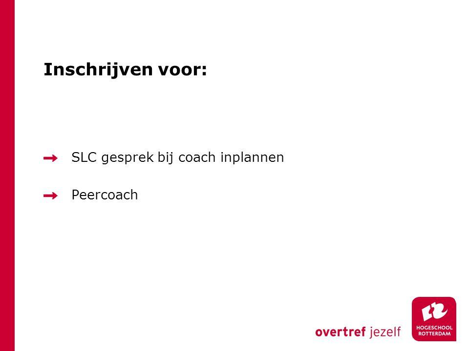 Inschrijven voor: SLC gesprek bij coach inplannen Peercoach
