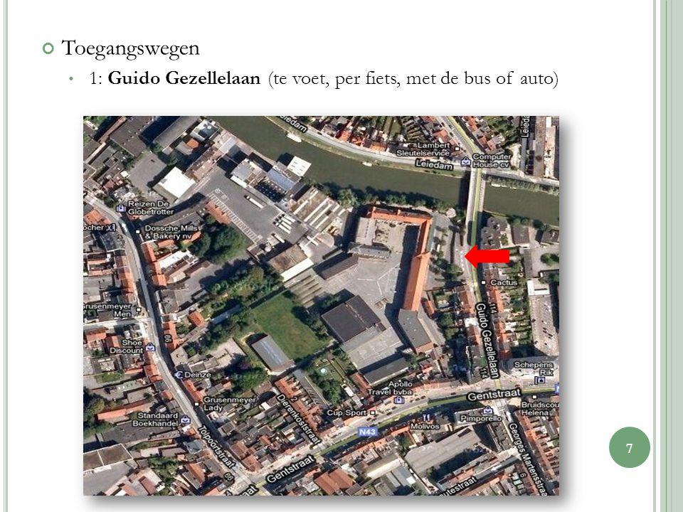 Toegangswegen 1: Guido Gezellelaan (te voet, per fiets, met de bus of auto) 7