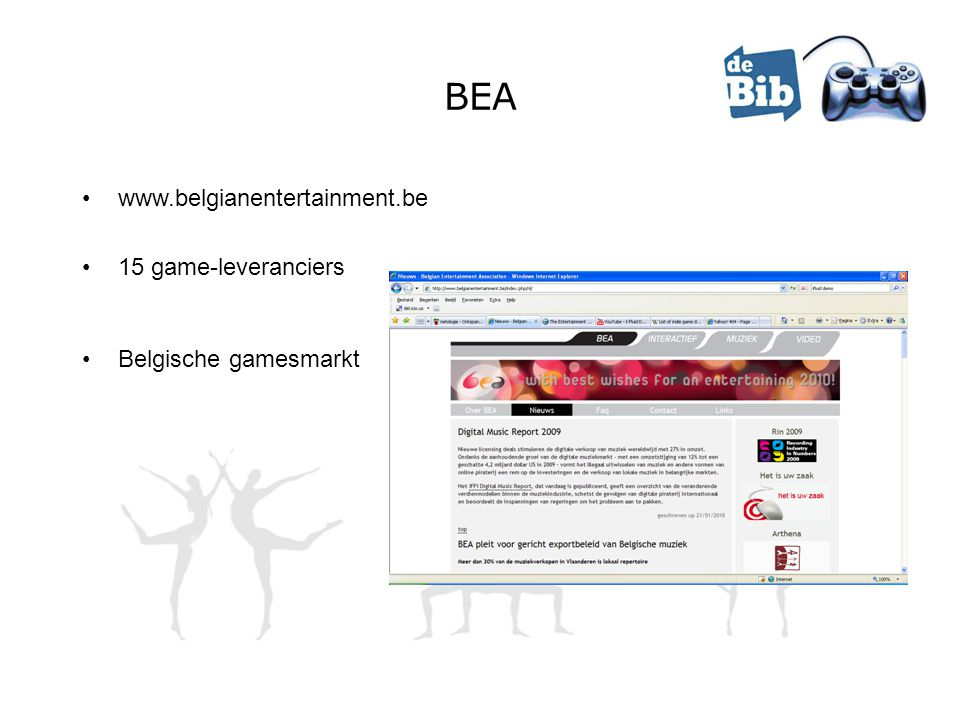 BEA www.belgianentertainment.be 15 game-leveranciers Belgische gamesmarkt