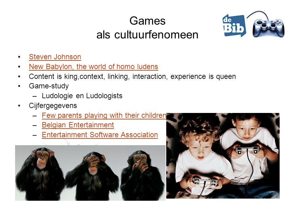 Ludofobie Ongenuanceerde, dubbelzinnige beeldvorming Intro Nadelen en gevaren –Geweldbevorderend, geweldtolererend (kort)Geweldbevorderend, geweldtolererend –Verslavend (sociale aspect, groepsdruk) –Belastend voor ledematen –Epilepsiebevorderend –Duur –Politieke gamesPolitieke games –Onderzoek: stimulatie, reductie of geen verband.