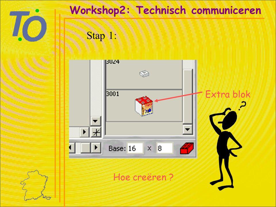 Extra blok Workshop2: Technisch communiceren Stap 1: Hoe creëren
