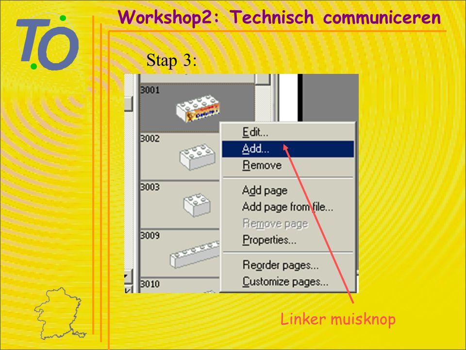 Workshop2: Technisch communiceren Stap 14: Selecteren met linker muisknop