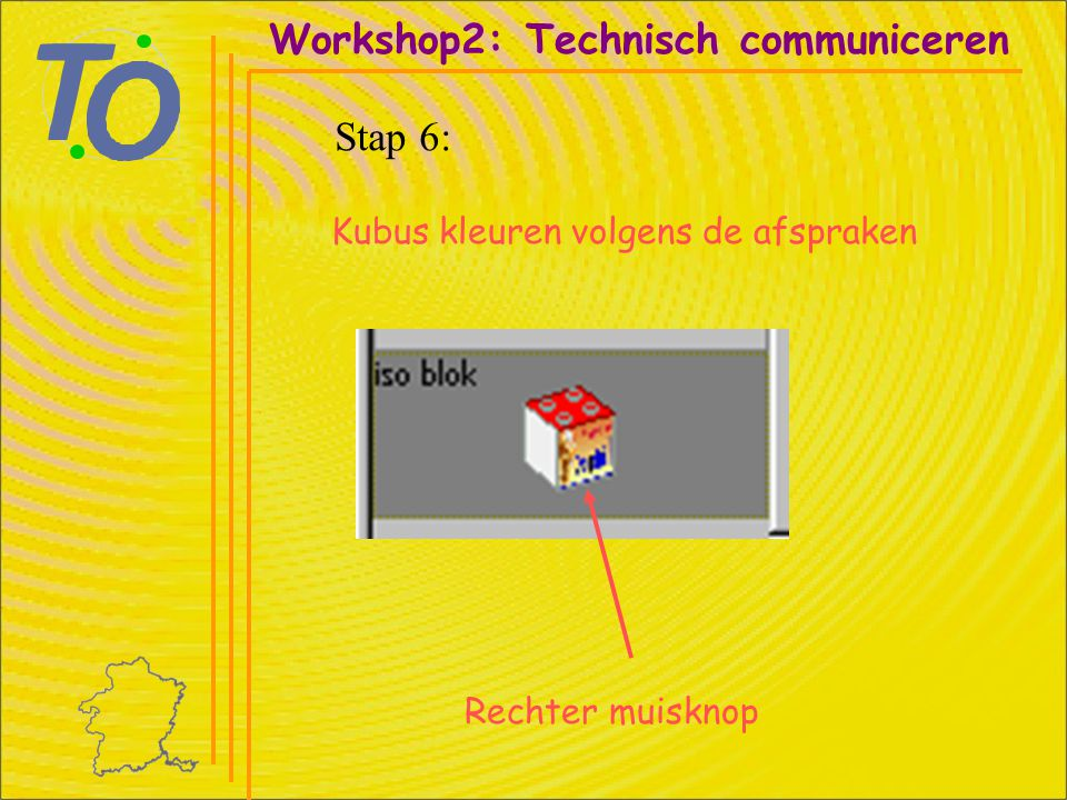 Workshop2: Technisch communiceren Stap 6: Rechter muisknop Kubus kleuren volgens de afspraken