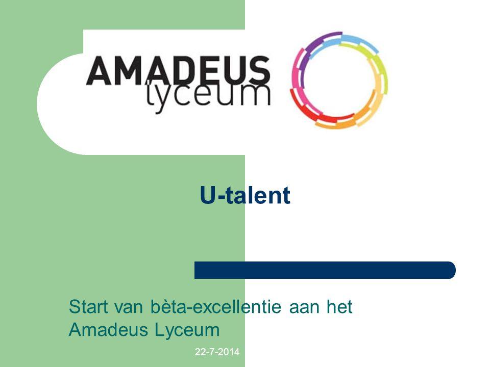 22-7-2014 U-talent Start van bèta-excellentie aan het Amadeus Lyceum