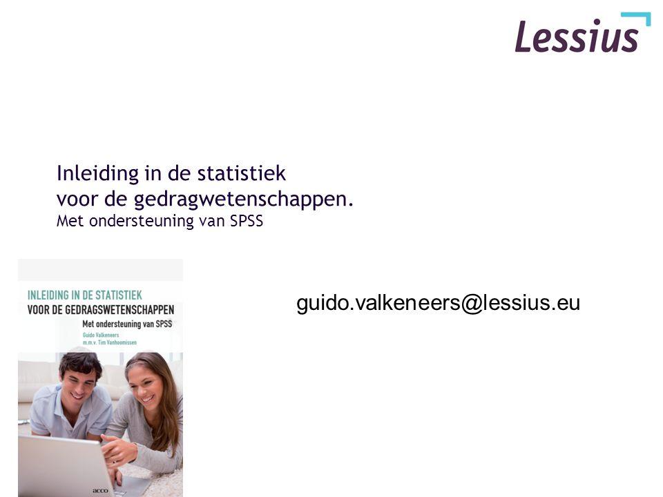 Inleiding in de statistiek Hoofdstuk VI Spreidingsmaten & SPSS Descriptives Hoofdstuk VI Variabiliteitsmaten