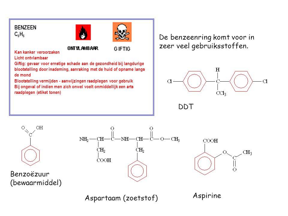 BENZEEN C 6 H 6 Kan kanker veroorzaken Licht ontvlambaar Giftig: gevaar voor ernstige schade aan de gezondheid bij langdurige blootstelling door inade