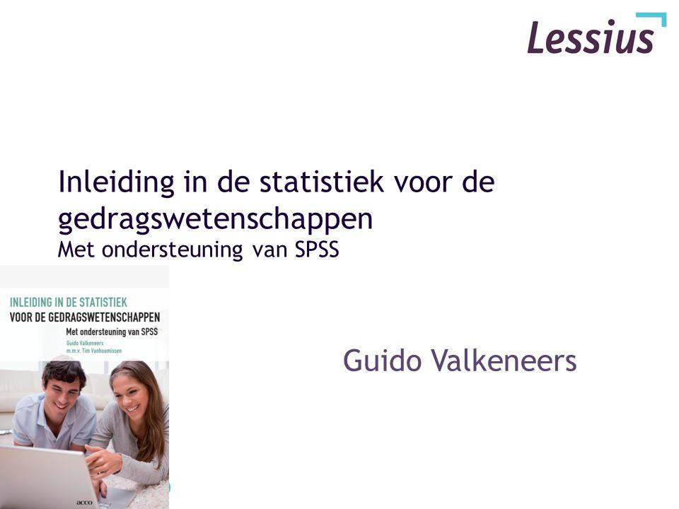 Hoofdstuk X Het correlatievraagstuk & SPSS toepassing guido.valkeneers@lessius.eu
