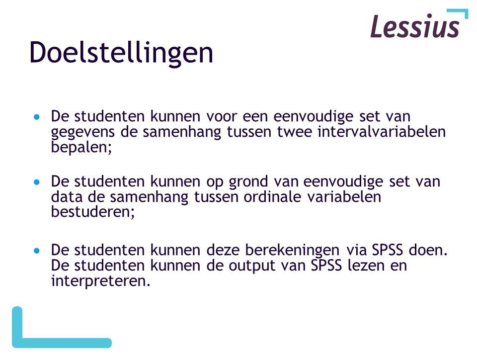 SPSS Opvragen van correlatie