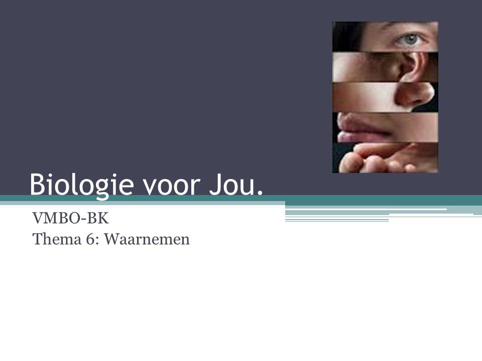 Biologie voor Jou. VMBO-BK Thema 6: Waarnemen