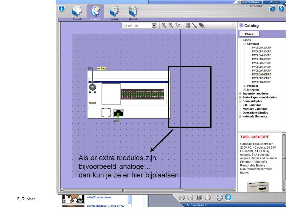 F. RubbenTwidosuite17 Als er extra modules zijn bijvoorbeeld analoge… dan kun je ze er hier bijplaatsen