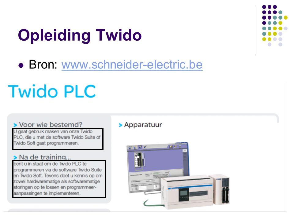 F. RubbenTwidosuite2 Opleiding Twido Bron: www.schneider-electric.bewww.schneider-electric.be