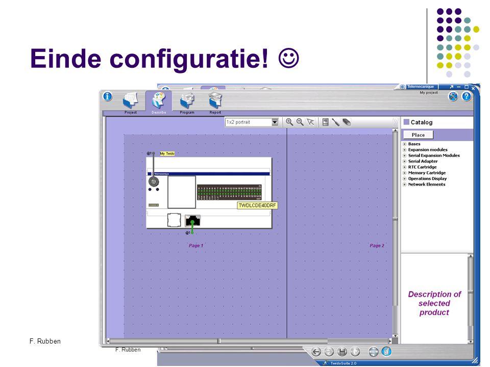 F. RubbenTwidosuite27 Einde configuratie!