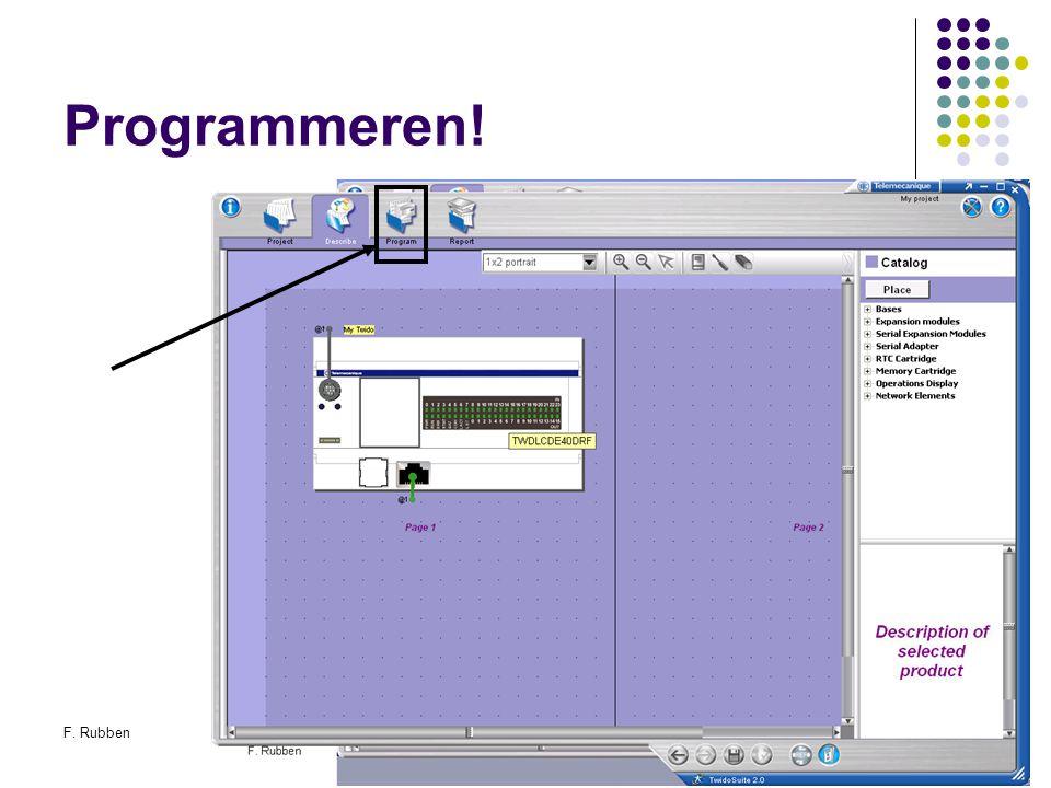 F. RubbenTwidosuite28 Programmeren!