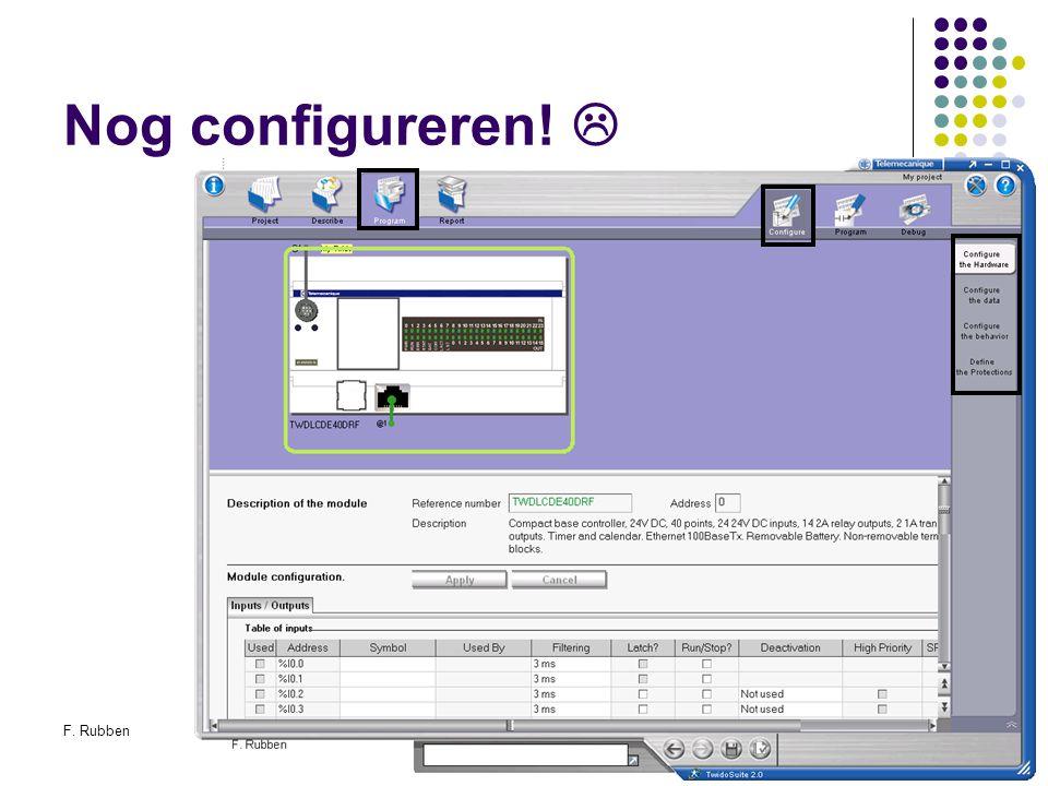 F. RubbenTwidosuite29 Nog configureren! 