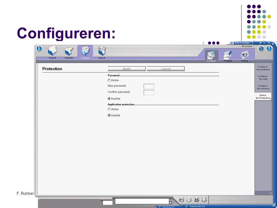 F. RubbenTwidosuite37 Configureren: