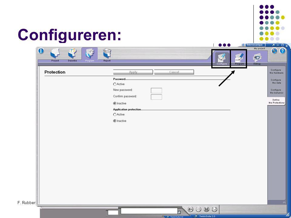 F. RubbenTwidosuite39 Configureren: