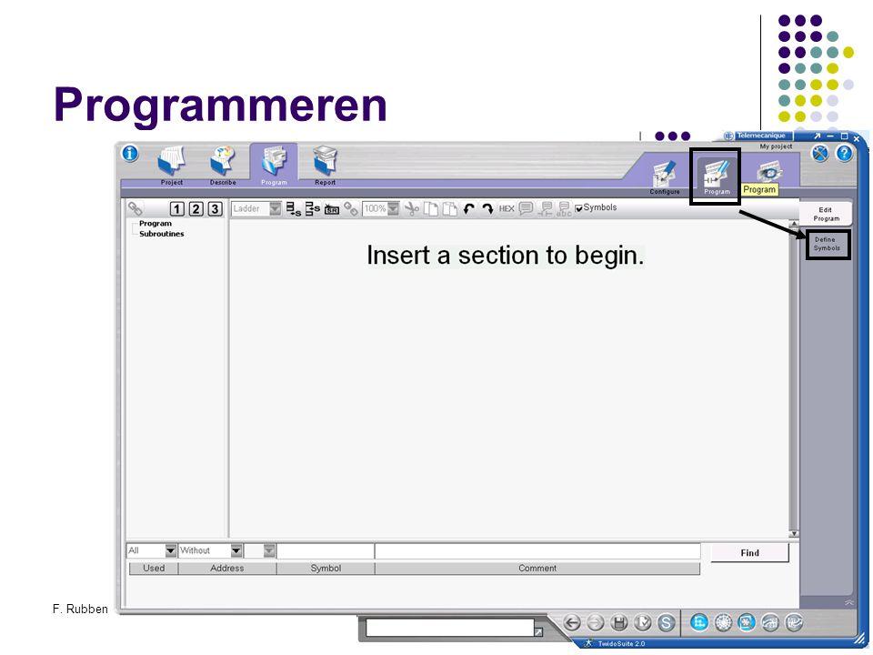 F. RubbenTwidosuite40 Programmeren