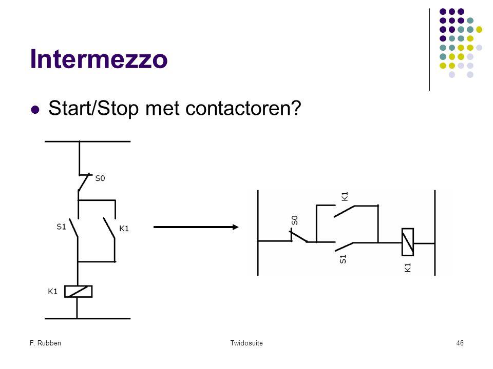 F. RubbenTwidosuite46 Intermezzo Start/Stop met contactoren?
