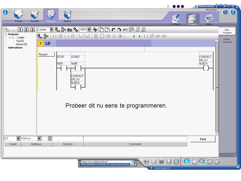 F. RubbenTwidosuite49 Probeer dit nu eens te programmeren.