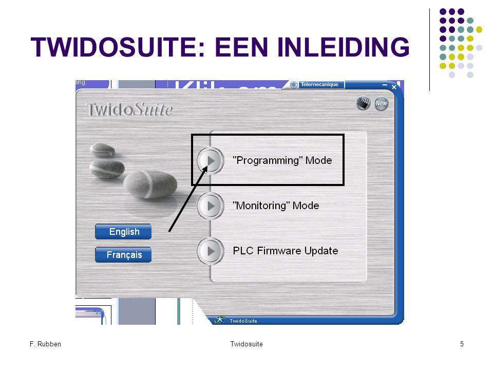 F. RubbenTwidosuite5 TWIDOSUITE: EEN INLEIDING