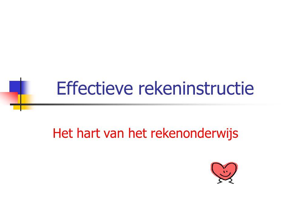 Effectieve rekeninstructie Het hart van het rekenonderwijs