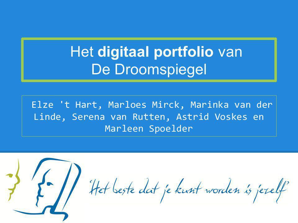 Het digitaal portfolio van De Droomspiegel Elze 't Hart, Marloes Mirck, Marinka van der Linde, Serena van Rutten, Astrid Voskes en Marleen Spoelder