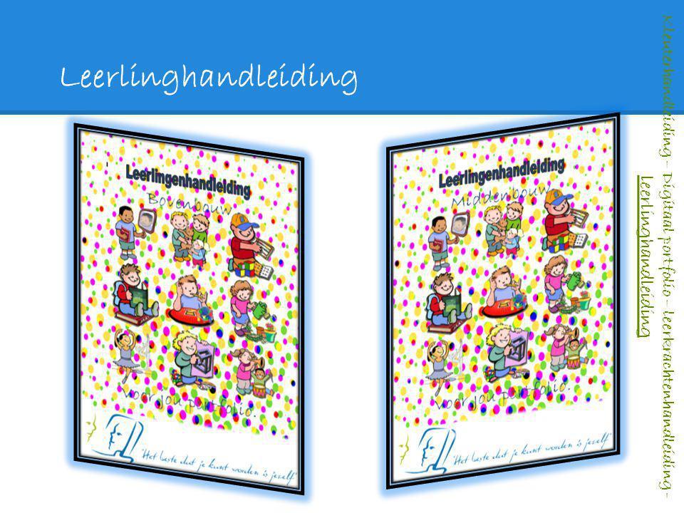 Leerlinghandleiding Kleuterhandleiding – Digitaal portfolio – leerkrachtenhandleiding - leerlinghandleiding