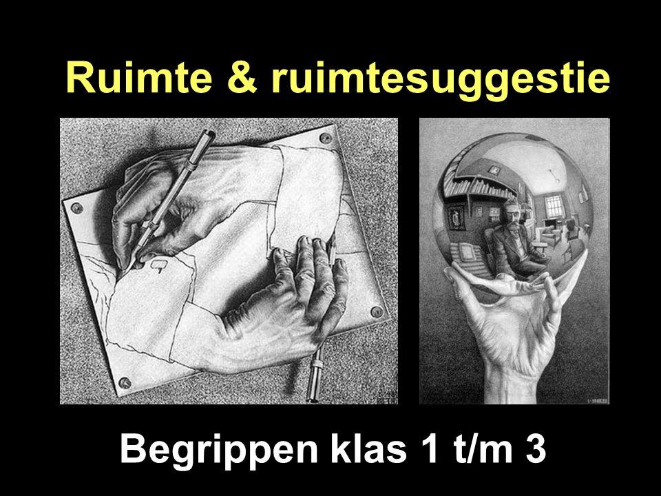 Ruimte & ruimtesuggestie Begrippen klas 1 t/m 3