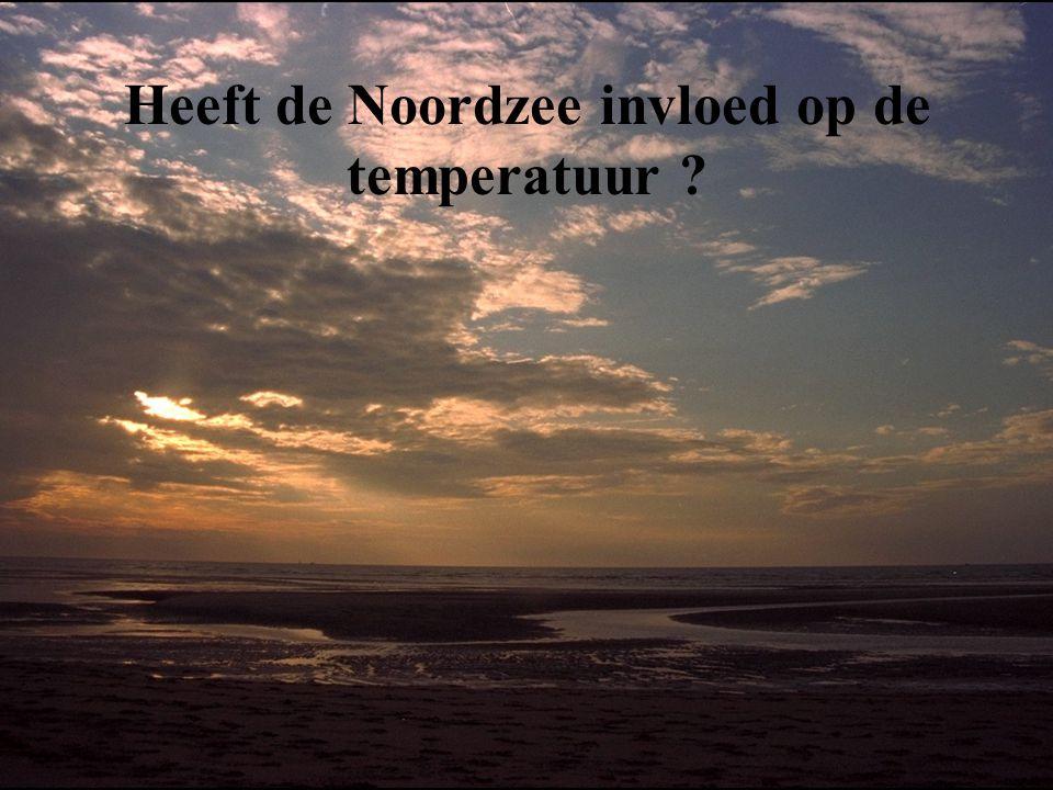 Heeft de Noordzee invloed op de temperatuur ?