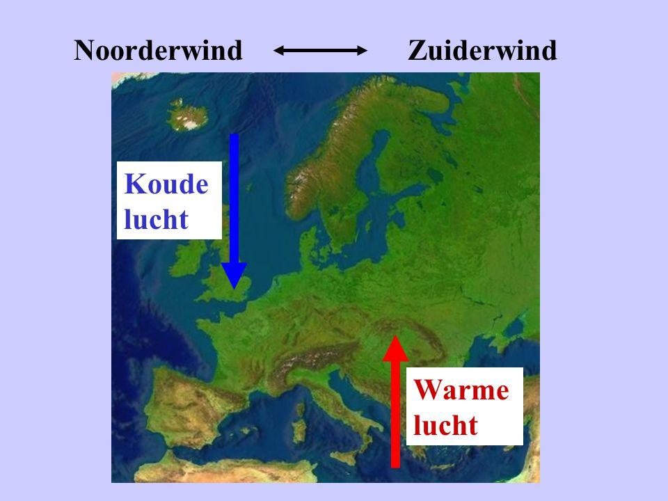 NoorderwindZuiderwind Koude lucht Warme lucht