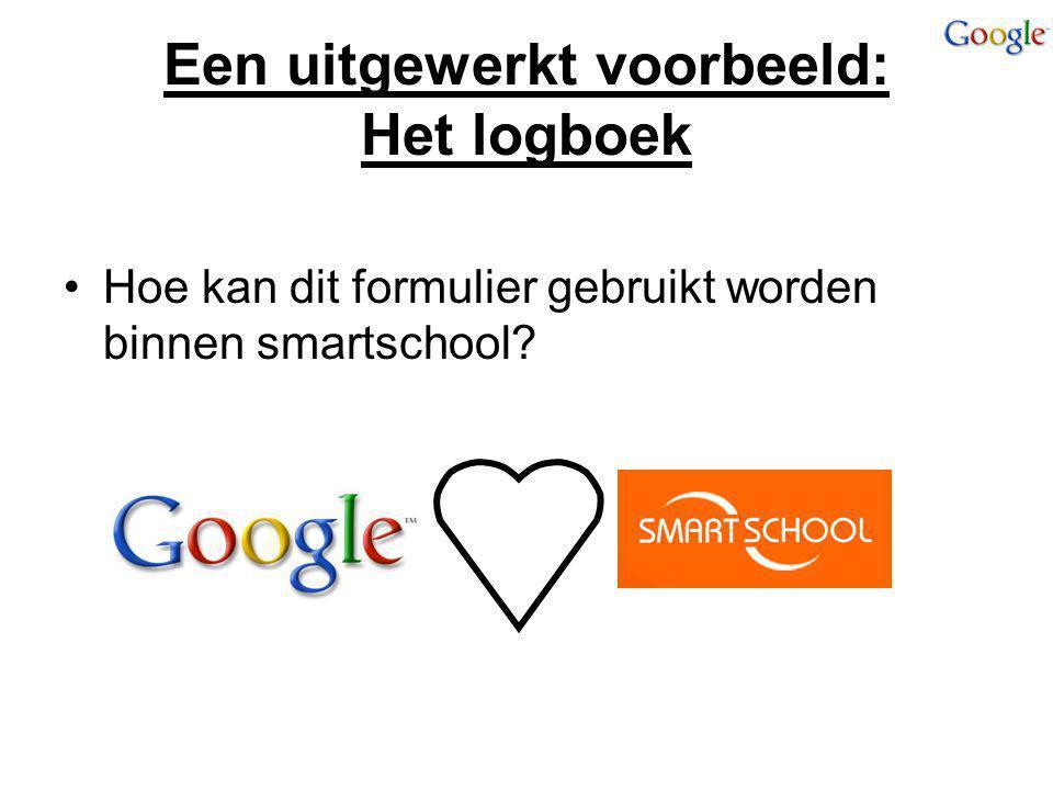 Een uitgewerkt voorbeeld: Het logboek Hoe kan dit formulier gebruikt worden binnen smartschool?