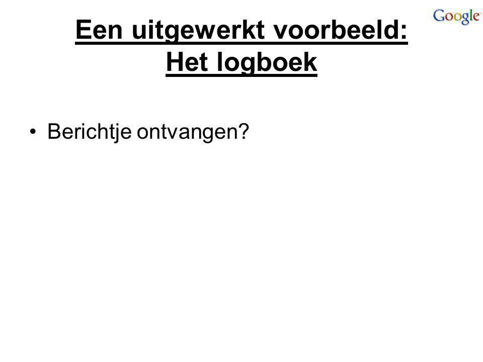 Een uitgewerkt voorbeeld: Het logboek Berichtje ontvangen?