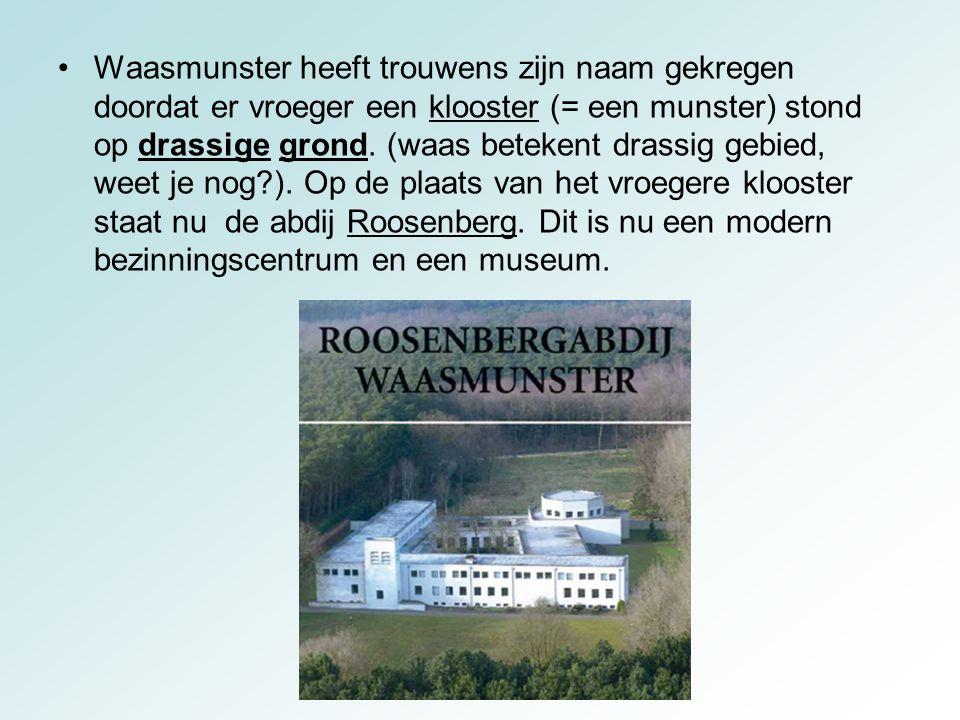Waasmunster heeft trouwens zijn naam gekregen doordat er vroeger een klooster (= een munster) stond op drassige grond. (waas betekent drassig gebied,
