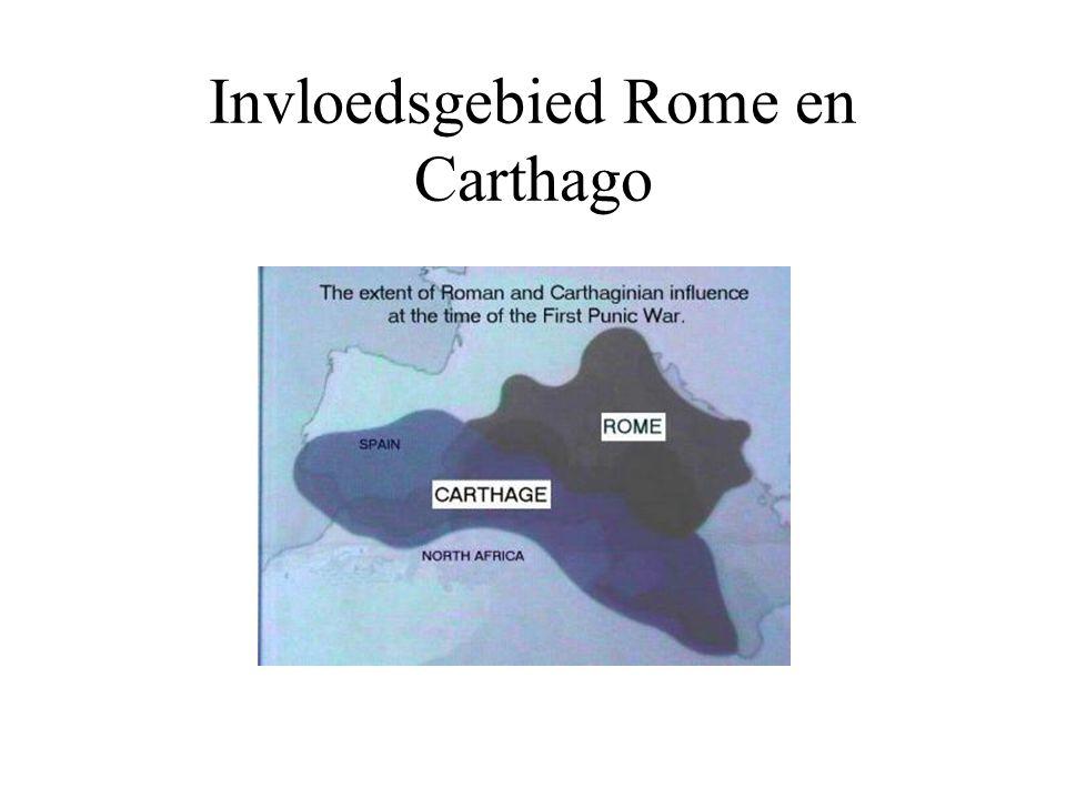 Invloedsgebied Rome en Carthago